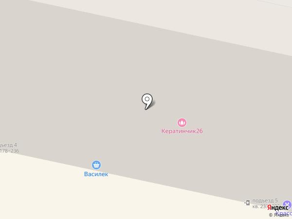 Адриано на карте Ставрополя