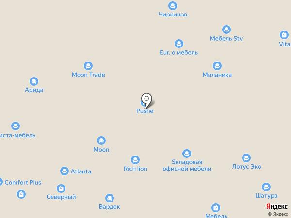 Регион Мебель на карте Ставрополя