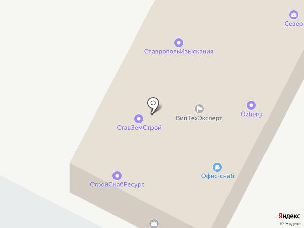 Азанта на карте Ставрополя