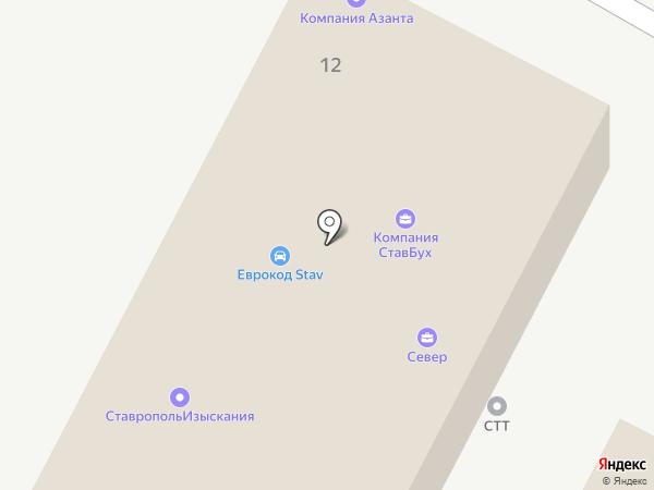 Вектор Инжиниринг Ст на карте Ставрополя