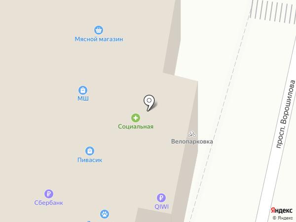 Хмельницкие Булочные на карте Ставрополя