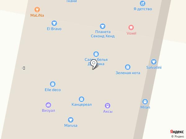 Brio B на карте Ставрополя