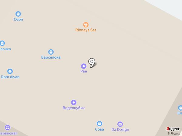 Пассаж Барселона на карте Ставрополя