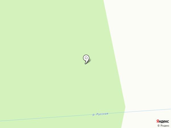 Лесное озеро на карте Верхнерусского