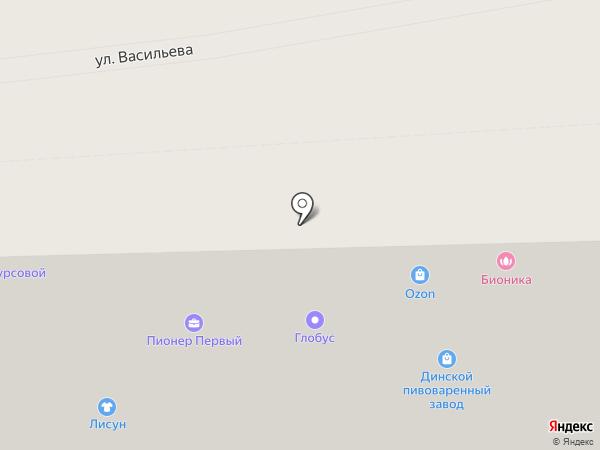 Глобус на карте Ставрополя