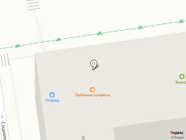 Протэс на карте Ставрополя