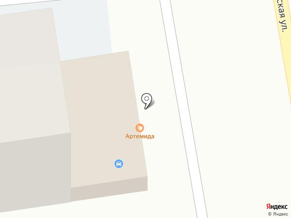 Артемида на карте Ставрополя
