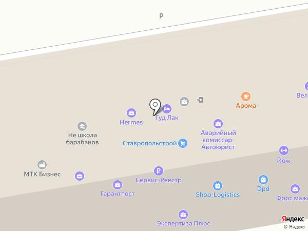 Гарантпост на карте Ставрополя