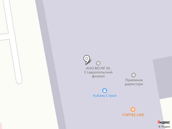 Московский гуманитарно-экономический институт на карте Ставрополя
