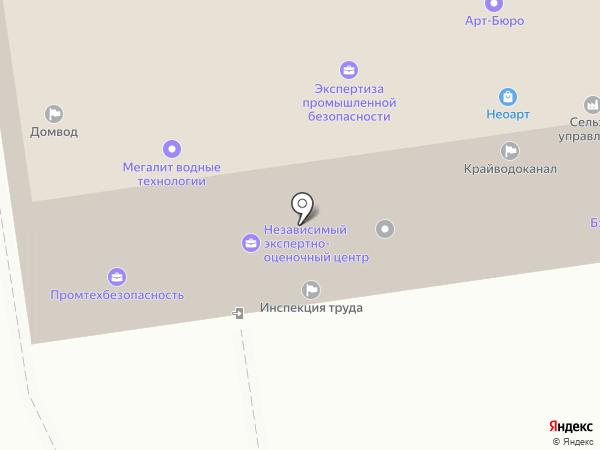 Горлатов И.И. на карте Ставрополя
