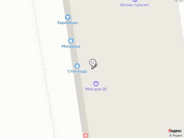 Стоп кадр на карте Ставрополя