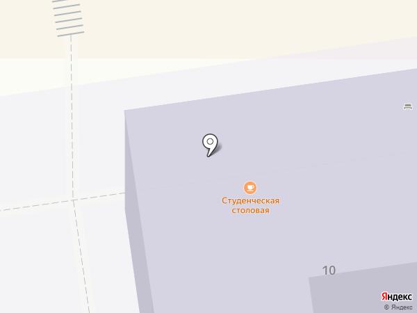 Студенческая столовая на карте Ставрополя