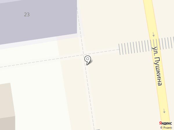 Киоск по продаже горячей выпечки на карте Ставрополя
