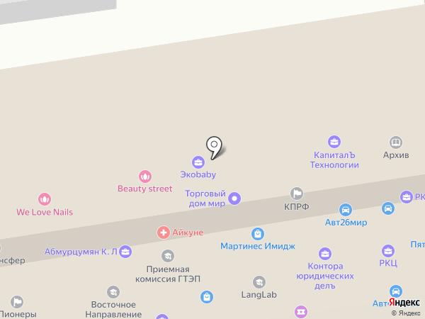 ВМЦ на карте Ставрополя