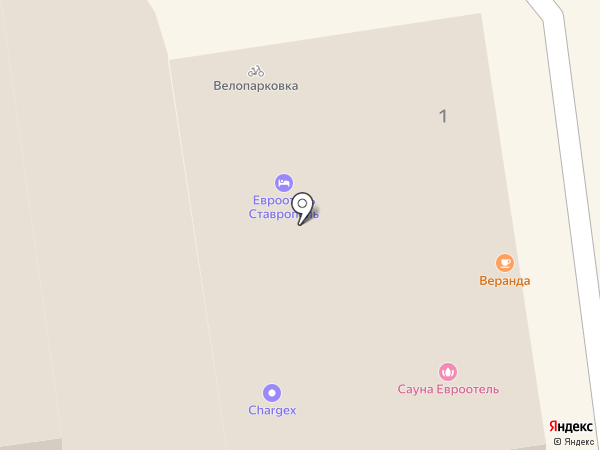 Стиль Тайм на карте Ставрополя