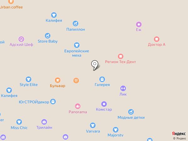 Джентельмен city на карте Ставрополя