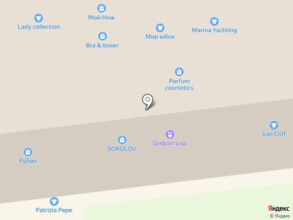 Line на карте Ставрополя