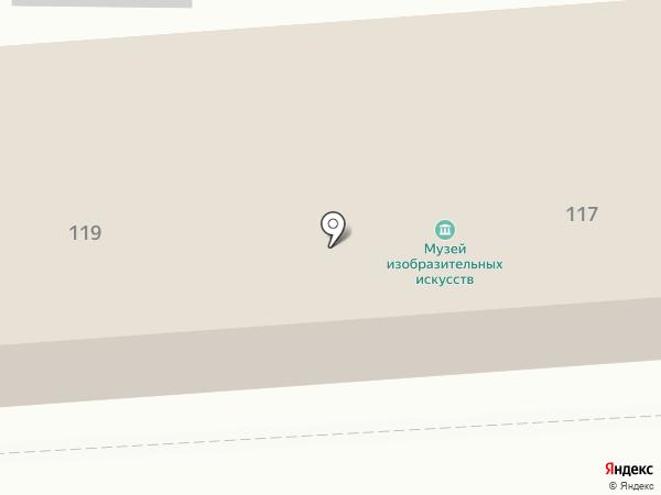 Ставропольский краевой музей изобразительных искусств на карте Ставрополя