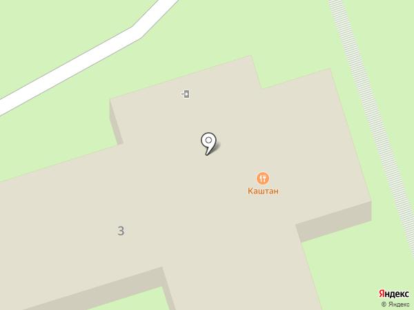 Каштан на карте Ставрополя