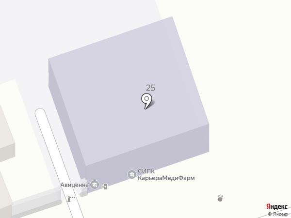 Авиценна на карте Ставрополя