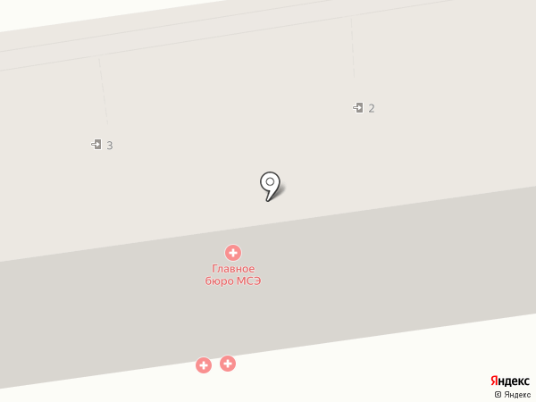 Бюро медико-социальной экспертизы по Ставропольскому краю на карте Ставрополя