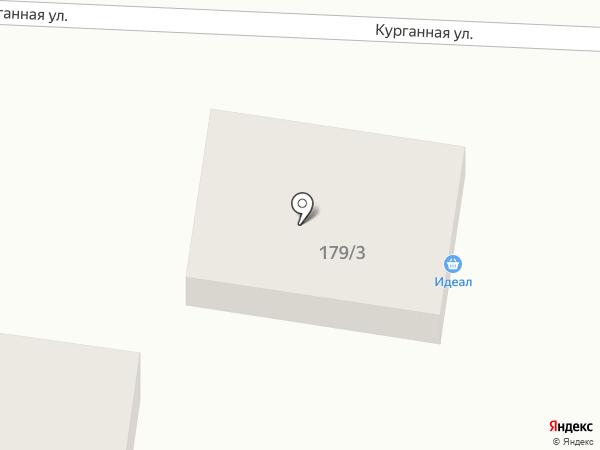 Продуктовый магазин на Курганной на карте Михайловска