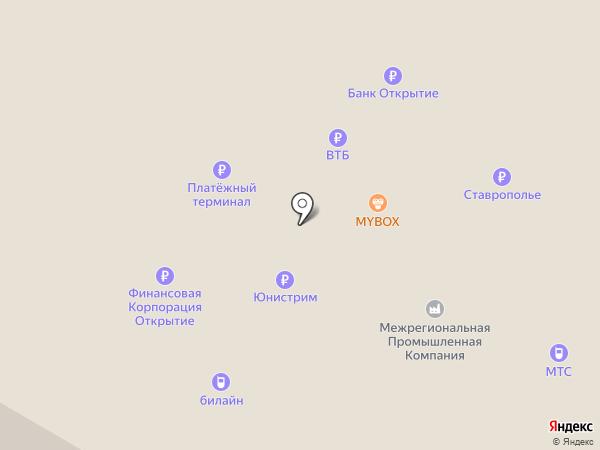 Банкомат, Ставропольпромстройбанк на карте Михайловска