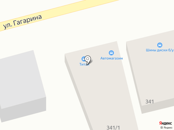 Автокомплекс на карте Михайловска
