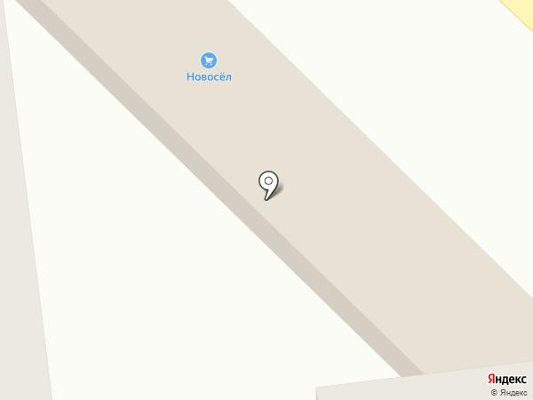 Новосёл на карте Михайловска
