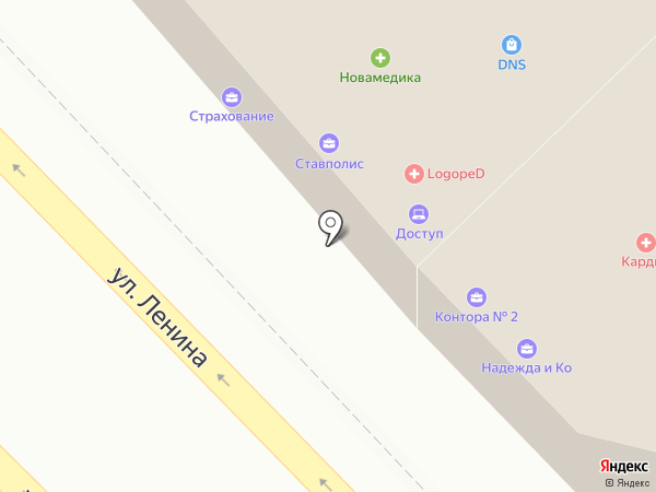 Адвокатская контора №2 на карте Михайловска