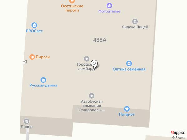 Черноусовъ на карте Ставрополя
