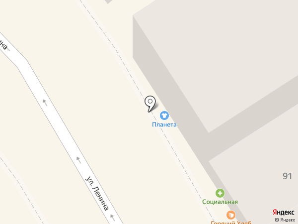 Магазин горячей выпечки на карте Михайловска