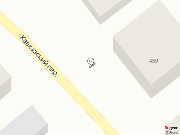 Продуктовый магазин в Кавказском переулке на карте Михайловска