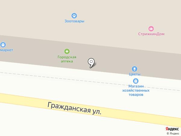 Ханна на карте Михайловска