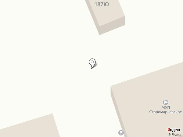 Магазин тканей на карте Старомарьевки