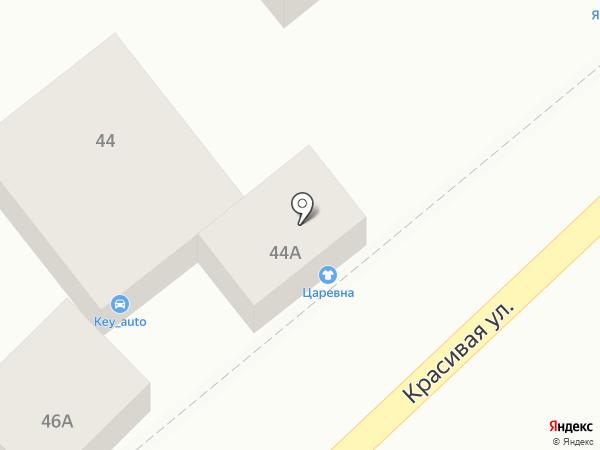 Царевна на карте Кисловодска