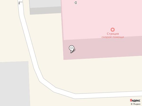 Станция скорой медицинской помощи на карте Кисловодска