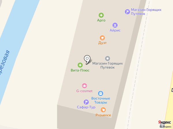 Сафар-Тур на карте Кисловодска