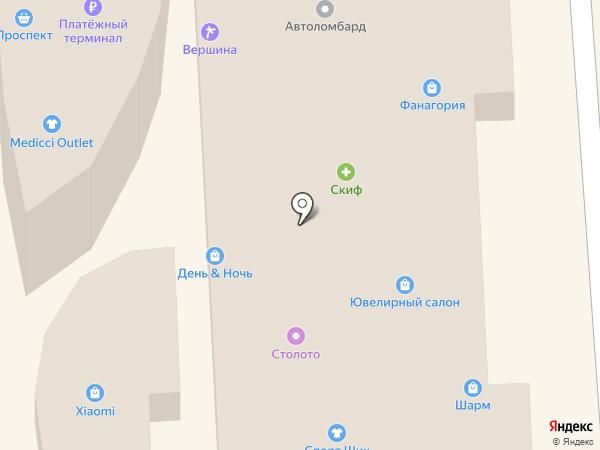 Фрэш на карте Кисловодска