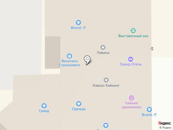 Гранд отель на карте Кисловодска