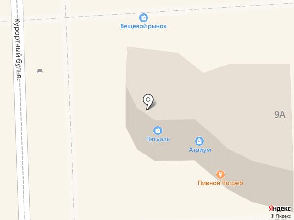 Л`Этуаль на карте Кисловодска