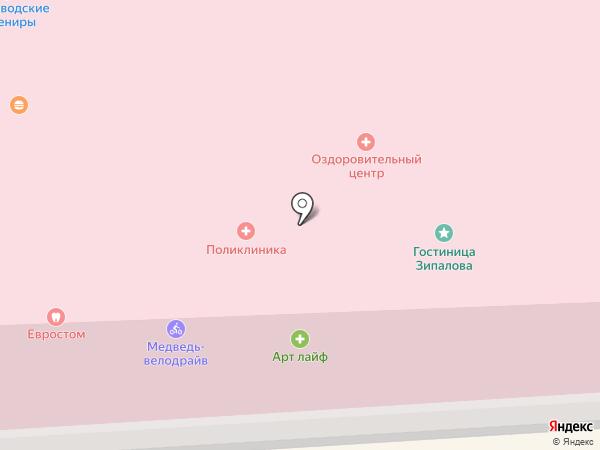 Колоннада на карте Кисловодска