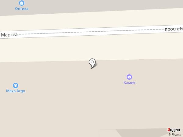 Камея на карте Кисловодска