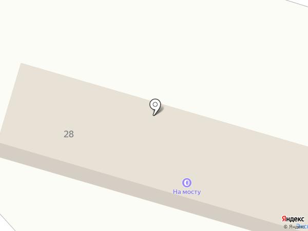 На мосту на карте Кисловодска