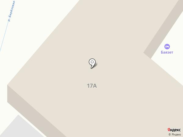 Баязет на карте Кисловодска