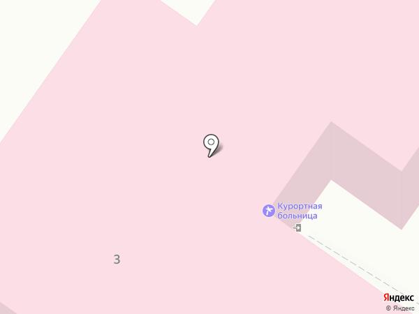 Курортная больница на карте Кисловодска