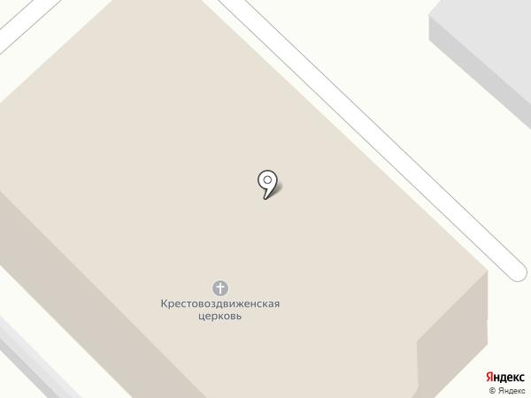 Крестовоздвиженский храм на карте Кисловодска