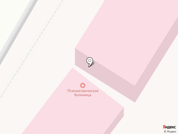 Психиатрическая больница на карте Кисловодска