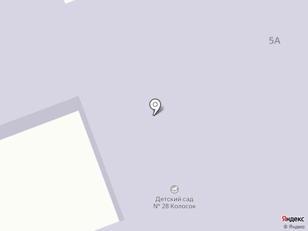 Детский сад №28, Колосок на карте Ессентуков