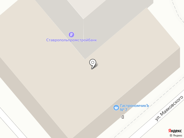 Банкомат, Ставропольпромстройбанк, ПАО на карте Ессентуков